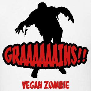 White Graaaains!!! Vegan Zombie T-Shirts - Men's T-Shirt