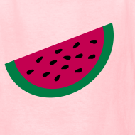 Design ~ KKT 'Large Watermelon Slice' Children's Tee, Light Pink