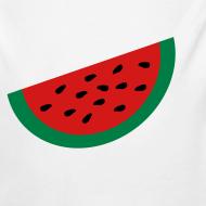 Design ~ KKT 'Large Watermelon Slice' Baby LS One Piece, White