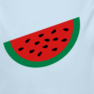 Design ~ KKT 'Large Watermelon Slice' Baby LS One Piece, Sky