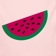 Design ~ KKT 'Large Watermelon Slice' Baby LS One Piece, Light Pink