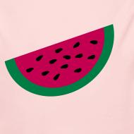 Design ~ KKT 'Large Watermelon Slice' Baby LS One Piece, Light Pink