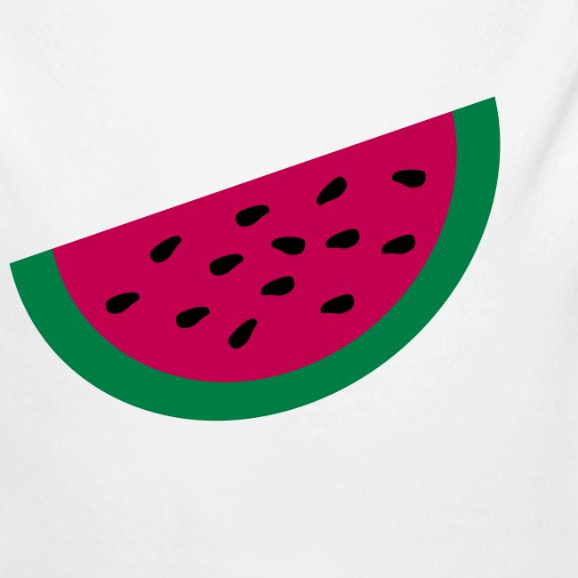 KKT 'Large Watermelon Slice' Baby LS One Piece, Light Pink