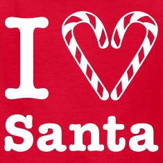 I Heart Santa (for white) Kids' Shirt