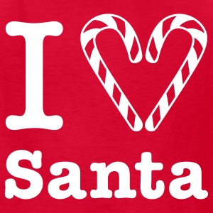 I Heart Santa (for white) Kids' Shirt - Kids' T-Shirt