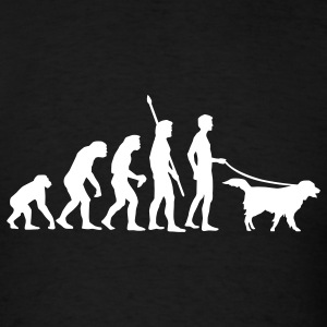 Black evolution_dog T-Shirts - Men's T-Shirt