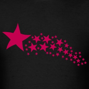 Black Shooting Star T-Shirts - Men's T-Shirt