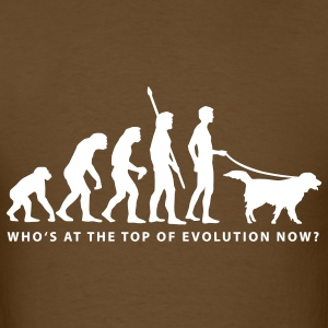 Brown evolution_dog_b T-Shirts - Men's T-Shirt