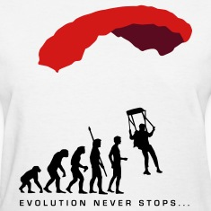 White evolution_fallschirm_b Women's T-Shirts