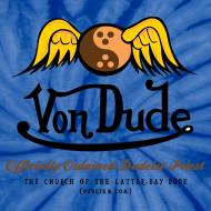 Design ~ Von Dude Flying Yin Yang Bowling Ball - Men's Unisex Tie Dye T Shirt