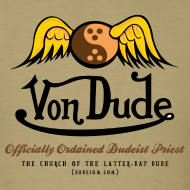 Design ~ Von Dude Flying Yin Yang Bowling Ball - Men's Standard Weight T-Shirt