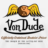 Design ~ Von Dude Flying Yin Yang Bowling Ball - Women's Standard Weight T-Shirt