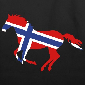 Black Norway Flag Horse Bags  - Eco-Friendly Cotton Tote