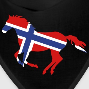 Black Norway Flag Horse Other - Bandana