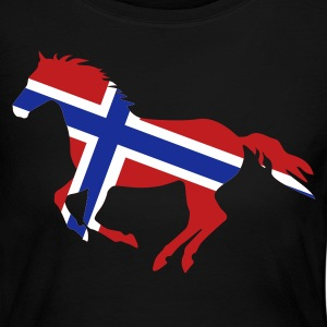 Black Norway Flag Horse Long Sleeve Shirts - Women's Long Sleeve Jersey T-Shirt