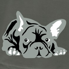 Asphalt french bulldog T-Shirts