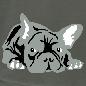 Asphalt french bulldog T-Shirts - Men's T-Shirt by American Apparel