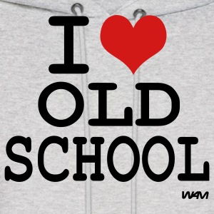 Ash  i love old school by wam Hoodies - Men's Hoodie