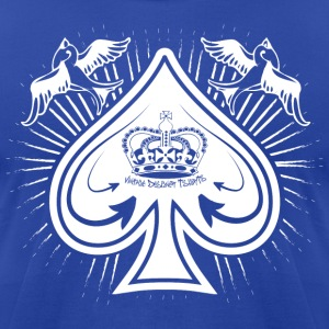 Royal blue Destroyed Card Spades and Birds Logo T-Shirts - Men's T-Shirt by American Apparel