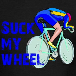 Sky/navy Suck My Wheel T-Shirts - Men's Ringer T-Shirt