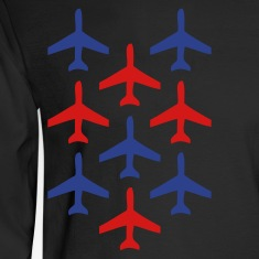 Black top gun planes in formation Long Sleeve Shirts