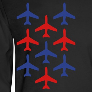 Black top gun planes in formation Long Sleeve Shirts - Men's Long Sleeve T-Shirt