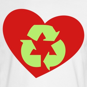 White recycle the love heart Long Sleeve Shirts - Men's Long Sleeve T-Shirt