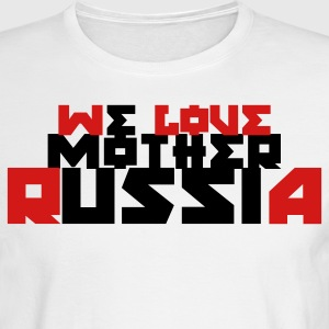 White we love mother Russia Long Sleeve Shirts - Men's Long Sleeve T-Shirt