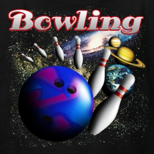 Black bowling_space_b Kids' Shirts - Kids' T-Shirt