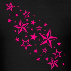 Black Cascading Nautical Stars T-Shirts - Men's T-Shirt