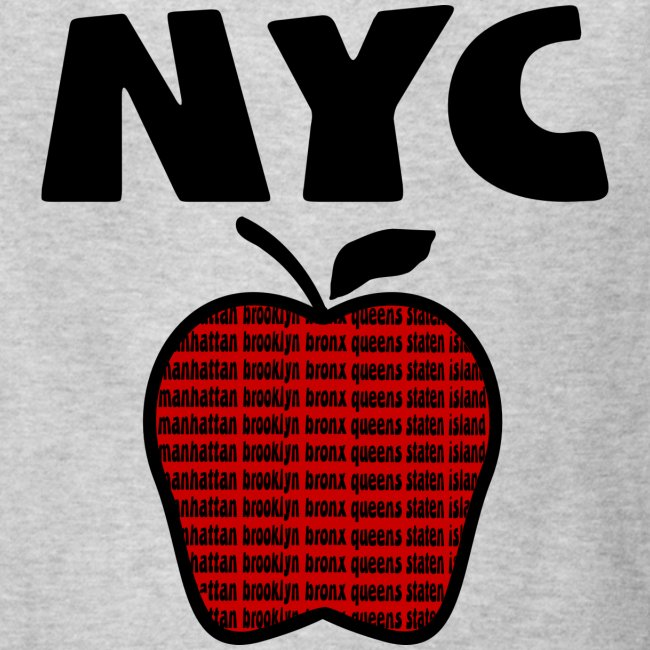 KKT 'NYC, Big Apple With Boroughs, DIGITAL DIRECT' Kids' Tee, White