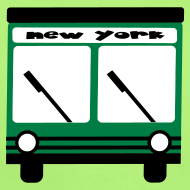 Design ~ KKT 'NY Hybrid Bus, Green' Baby SS One Piece Tee, Mint Green