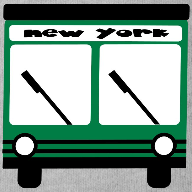 KKT 'NY Hybrid Bus, Green' Baby SS One Piece Tee, Mint Green