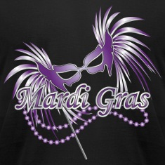 Black Purple Mardi Gras Mask T-Shirts