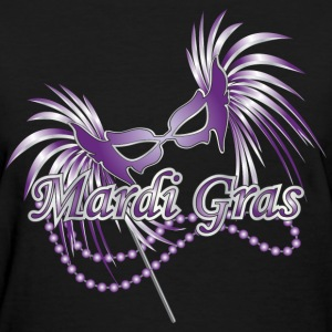 Black Purple Mardi Gras Mask Women's T-Shirts - Women's T-Shirt