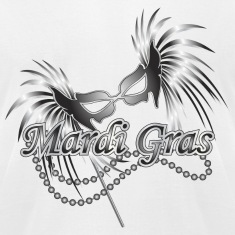 White Mardi Gras Mask T-Shirts