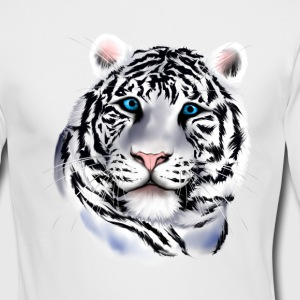 White Tiger Face - Men's Long Sleeve T-Shirt by Next Level