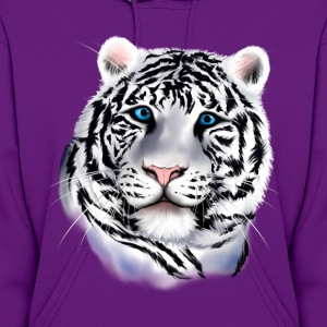 White Tiger Face - Women's Hoodie
