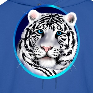 Framed White Tiger Face - Men's Hoodie