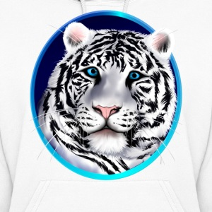 Framed White Tiger Face - Women's Hoodie