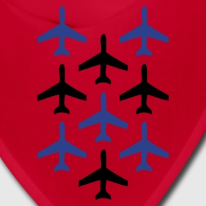 Red top gun planes in formation Other - Bandana