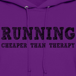 Light pink Running Cheaper Than Therapy Hoodies - Women's Hoodie