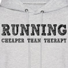 Ash  Running Cheaper Than Therapy Hoodies