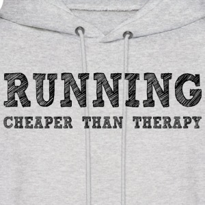 Ash  Running Cheaper Than Therapy Hoodies - Men's Hoodie