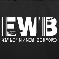 Design ~ New Bedford airport code EWB black tote / beach bag