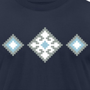 Navy Pixel Rug T-Shirts - Men's T-Shirt by American Apparel