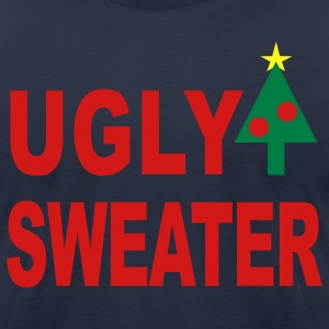 Navy Ugly Sweater T-Shirts - Men's T-Shirt by American Apparel