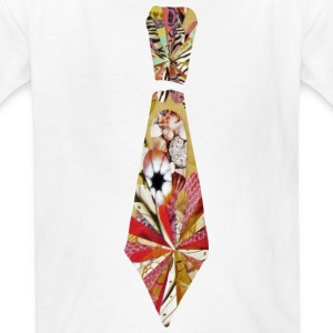 White Collage Art Necktie Kids' Shirts - Kids' T-Shirt