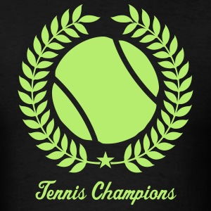 Black Cool tennis Designs T-Shirts - Men's T-Shirt