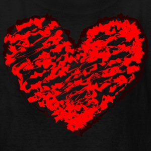 Black heart Kids' Shirts - Kids' T-Shirt